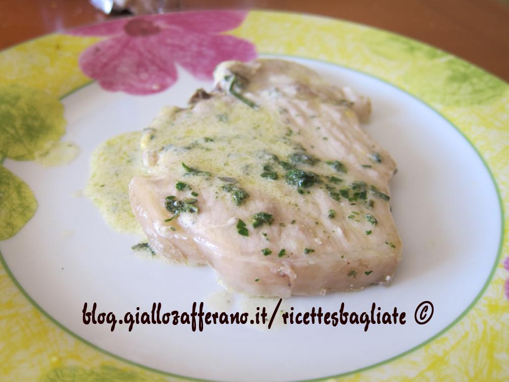 Braciola di maiale in crema di senape e tartufo