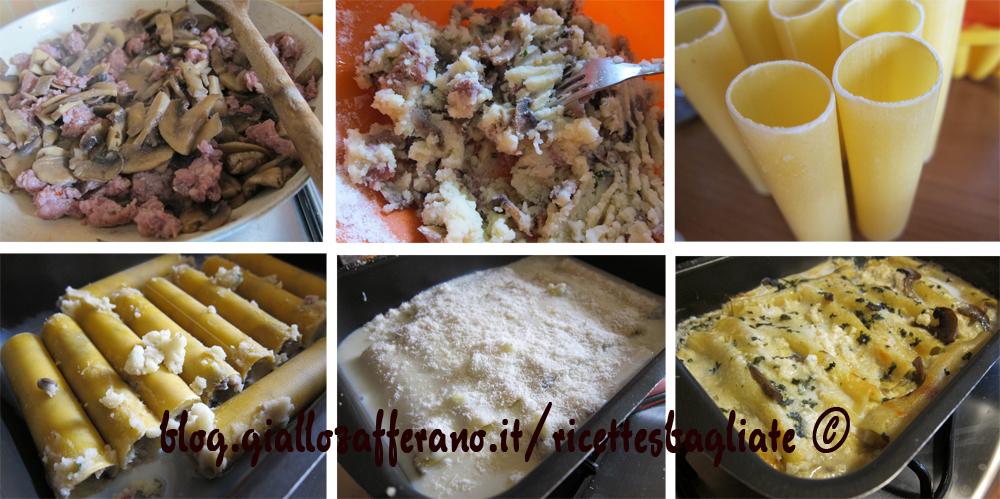 cannelloni funghi e patate preparazione