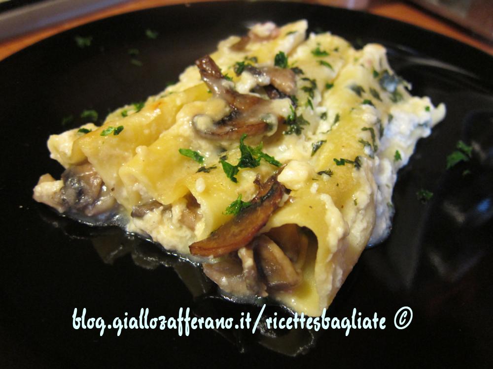 cannelloni funghi e patate