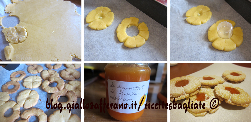 preparazione biscotti occhio di bue