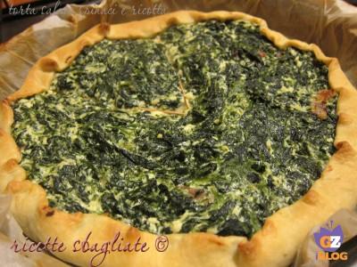 Torta salata di spinaci e ricotta