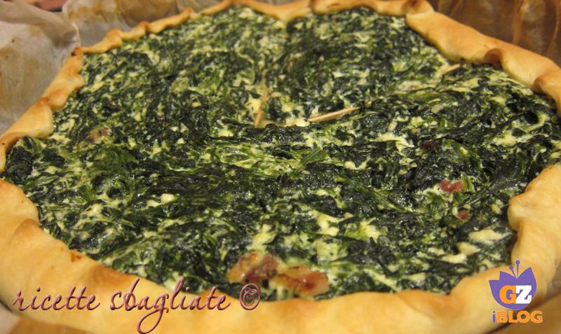torta rustica di pasta brise con ricotta e spinaci