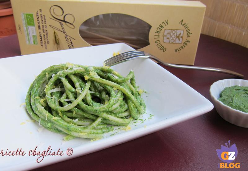pasta al pesto di spinaci