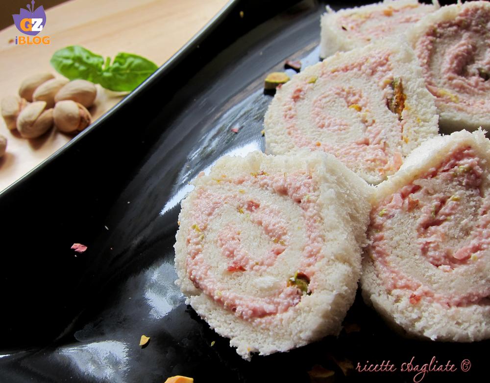 girelle di pane mortadella e pistacchi
