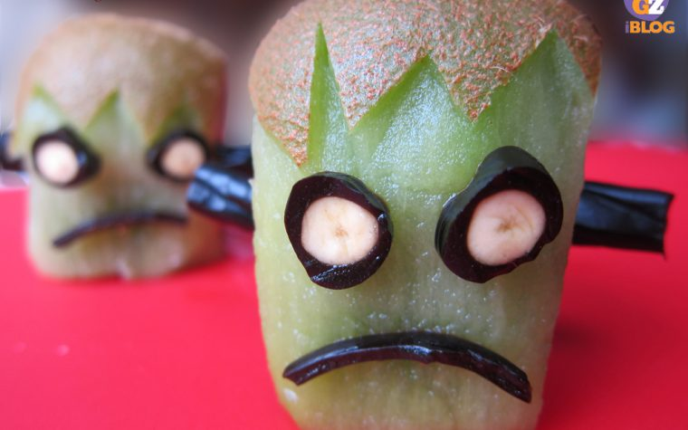 Kiwi Frankenstein, decorazione di Halloween