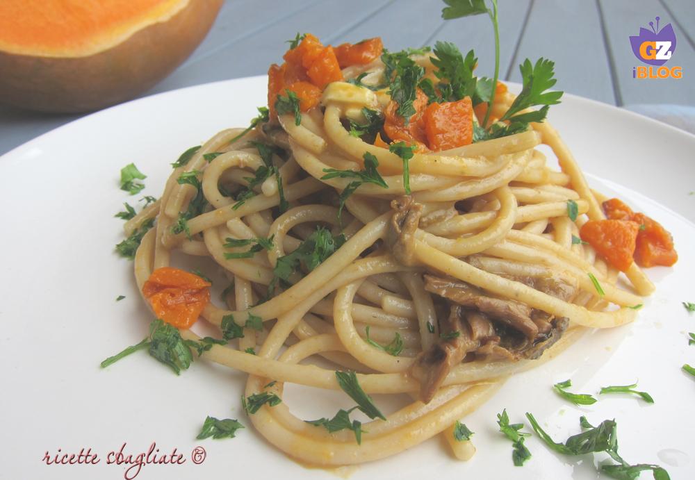 spaghetti alla zucca funghi formaggio