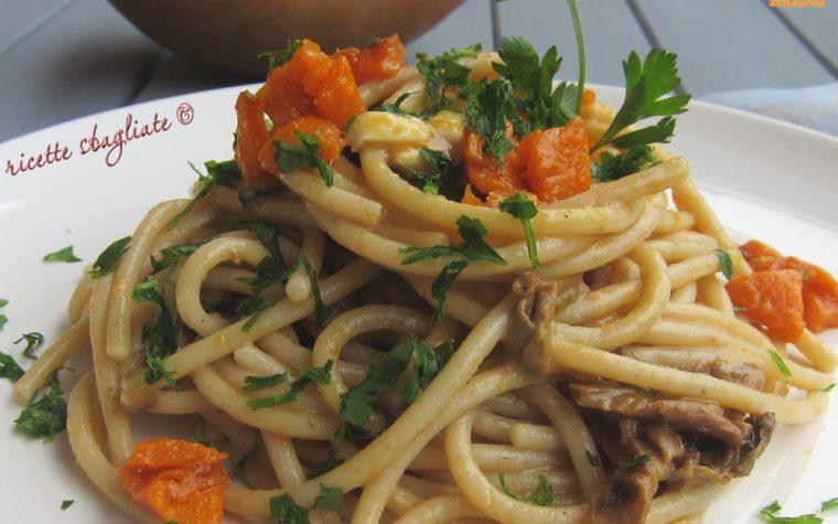 Spaghetti alla zucca con porcini e brie