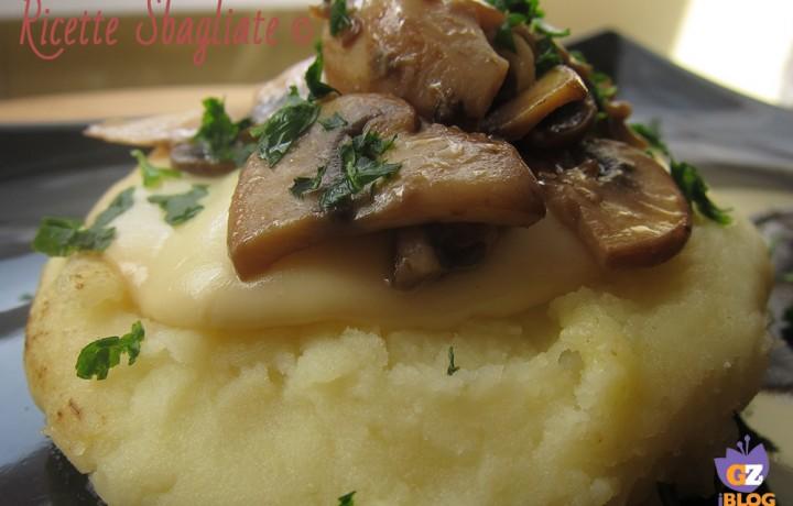 Crostino di patate scamorza e funghi porcini