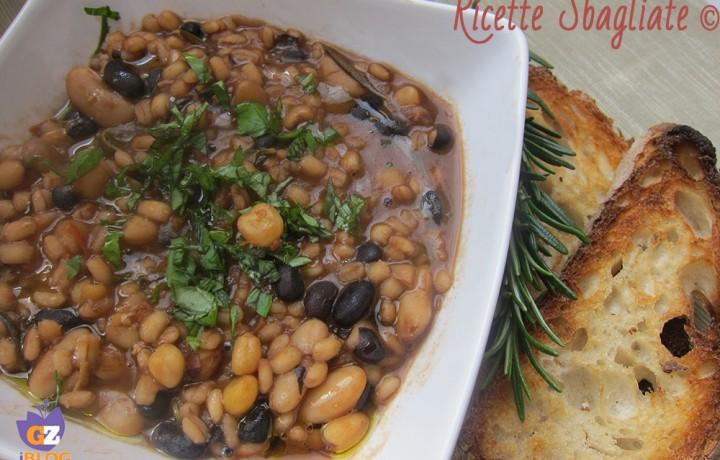 Zuppa di legumi e farro, ricetta invernale