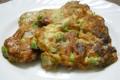 Cuori di frittata con carciofi prosciutto e piselli