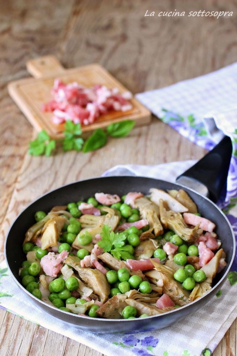 contorno di patate carciofi e pancetta