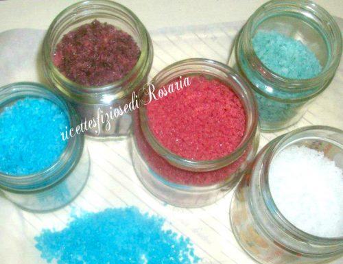 Zucchero in granella colorato ricetta economica