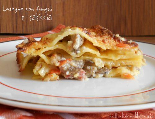 Lasagna con funghi e salsiccia