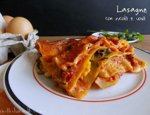 Lasagne con rucola e uova – ricetta leggera