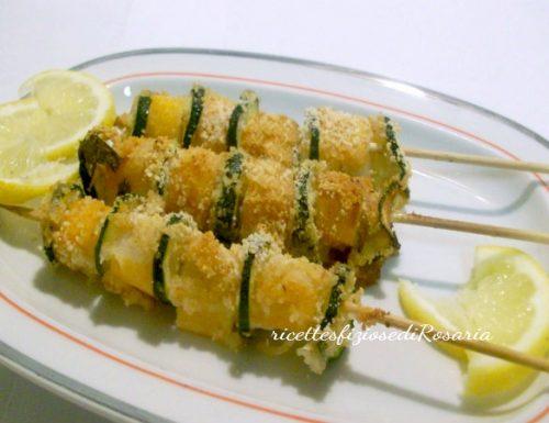 Spiedini di zucchine e surimi saporiti