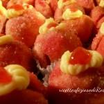 pesche dolci con crema