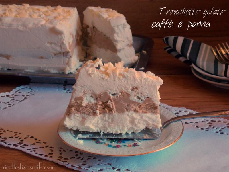 Tronchetto gelato caffè panna e meringhe