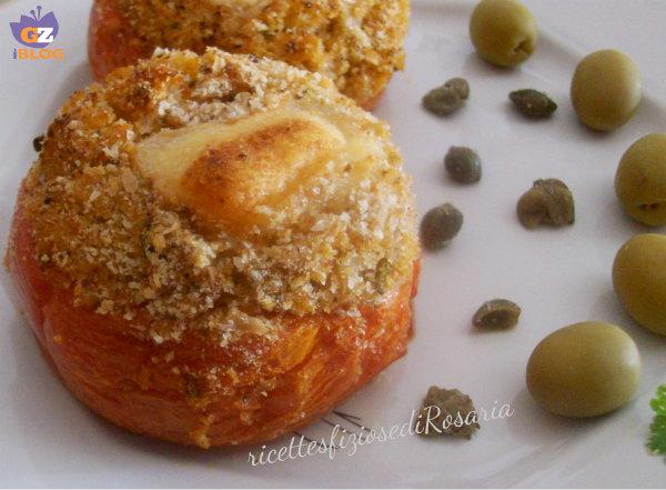 pomodori ripieni di pane