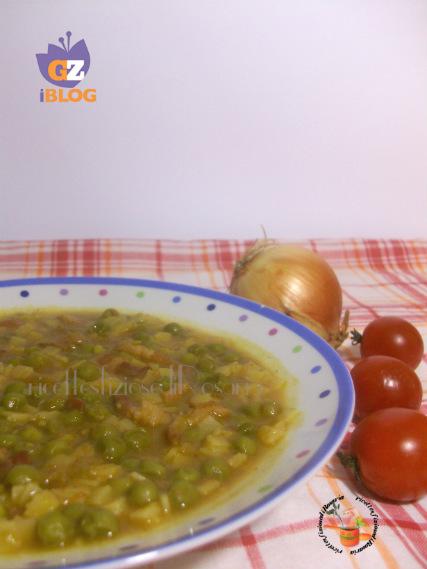 minestra con piselli