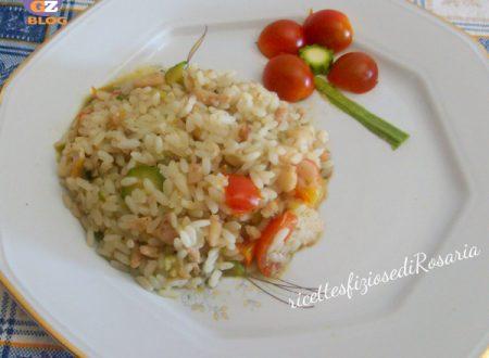 Risotto con ceci e verdure alla marinara