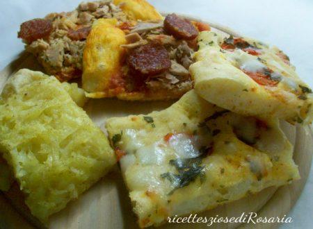 Pizza farcita in vari gusti con metodo Bonci