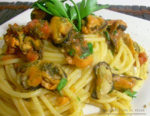 Spaghetti con le cozze light