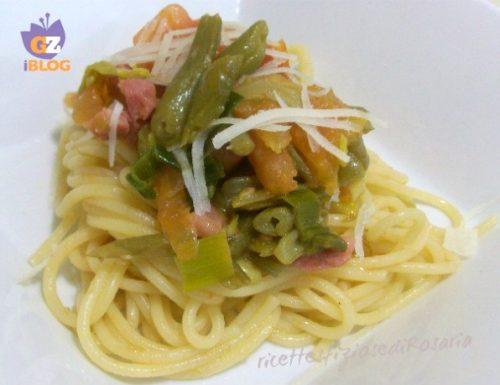 Pasta fagiolini e pancetta – ricetta primo con verdura