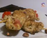 Spiedini di pollo ripieni al pistacchio