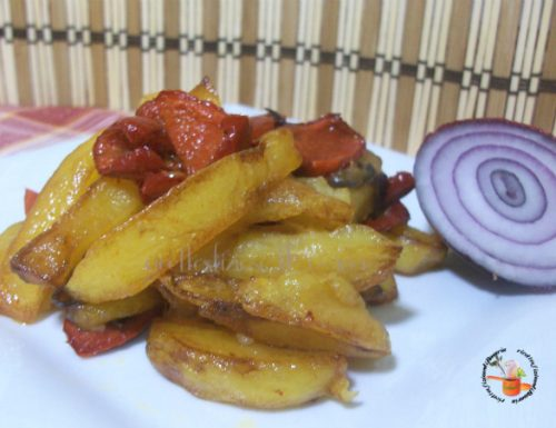 Patate fritte con peperoni calabresi