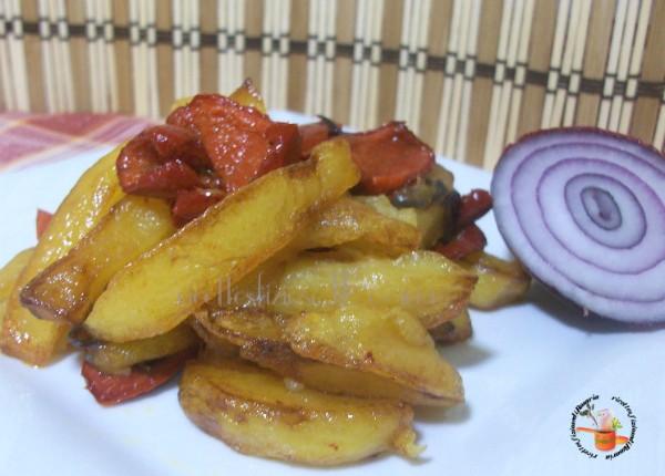 patate fritte con peperoni