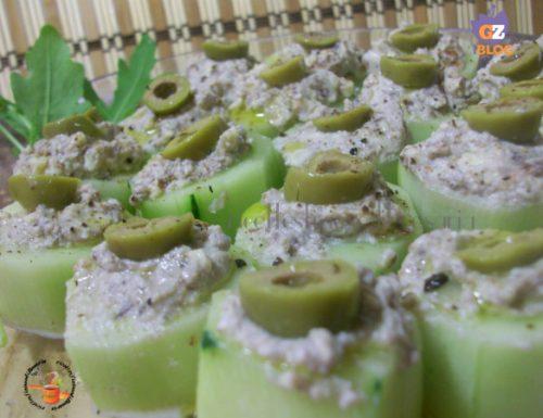 Cetriolo farcito con ricotta e olive – ricetta antipasto