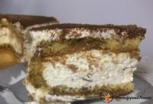 Torta tiramisu con crema pasticcera