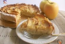 Crostata di mele con crema al succo di frutta – ricetta golosa