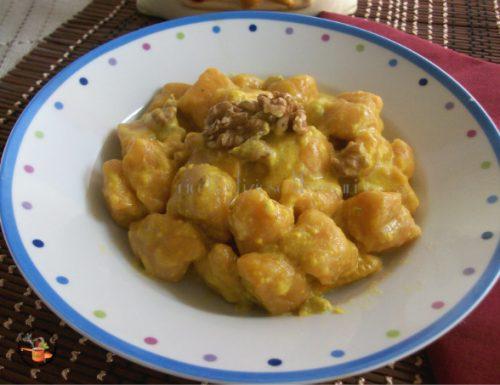 Gnocchi di zucca e patate con gorgonzola e zafferano