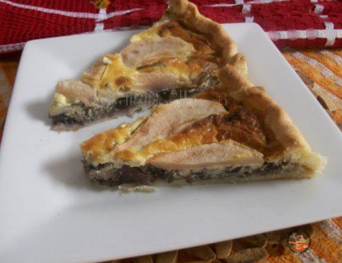 Torta salata pere radicchio e…  – piatto unico