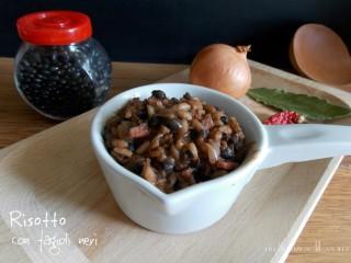risotto con fagioli neri