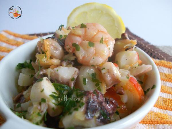 Insalata di mare con pesce surgelato - ricetta veloce