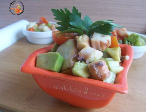 Insalata di polpo e avocado – ricetta con pesce surgelato