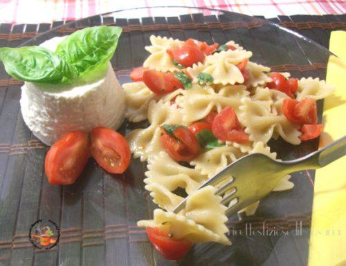 Pasta integrale ricotta e pomodorini – ricetta pasta fredda