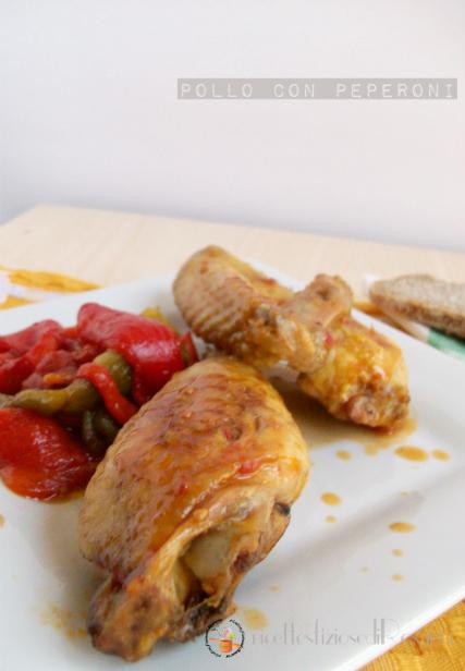 Pollo con peperoni arrostiti - ricetta estiva leggera