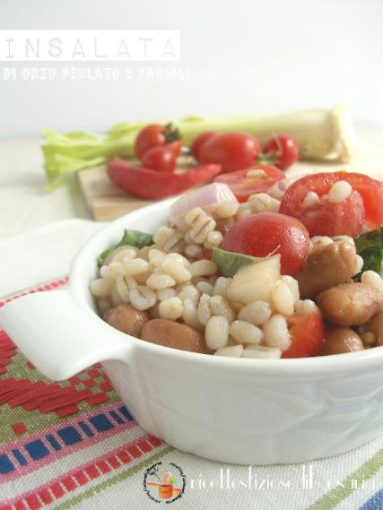 Insalata di orzo perlato e fagioli - ricetta piatto freddo