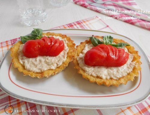 Crostatine di patate con tonno e pomodoro