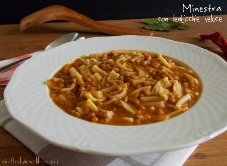 Minestra con lenticchie veloce
