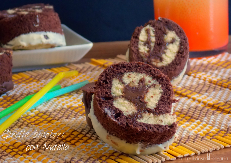 Girelle bicolori con Nutella