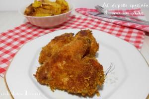 Ali di pollo speziate al forno con patate – secondo saporito