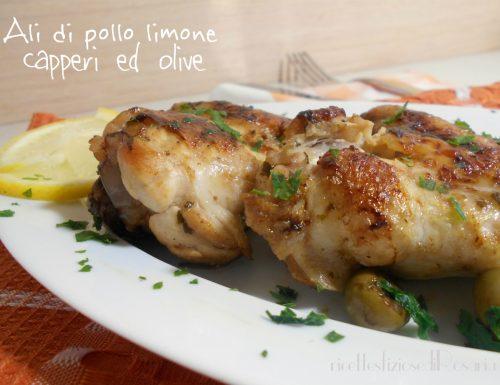 Ali di pollo limone capperi ed olive