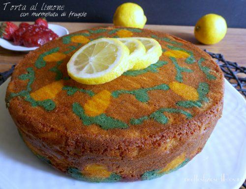 Torta al limone e marmellata di fragole