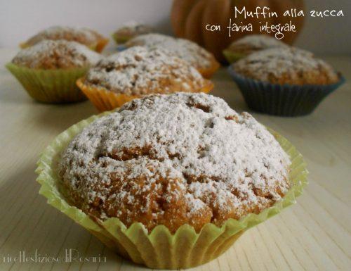 Muffin alla zucca con farina integrale