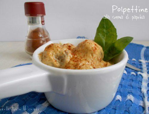 Polpettine alla crema di paprika – ricetta secondo sfizioso