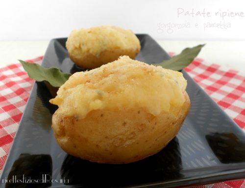 Patate ripiene gorgonzola e pancetta